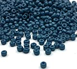 6500 Stück Glas Rocailles Perlen 2mm Metallic Farbe Set, 11/0, Pony Perlen, Mini Kinder Perlen, Seed Beads, Farbauswahl (Marine Blau)