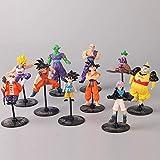 SXXYTCWL Ball 10 Zeichenfiguren Kakarotto Kuchendekoration Anime-Charakter Toy Collection Statue Dekoration jianyou