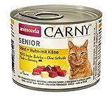 animonda Katzenfutter Carny Senior, Nassfutter für Katzen ab 7 Jahren, Rind + Huhn mit Käse, 6 x 200 g