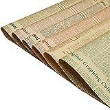 30 Stücke Vintage Zeitungskunstverpackung, Vintage Geschenkpapier, Natürlich recyceltes Papier, für Geschenke, Bücher, Blumen und Souvenirs (6 Farben)