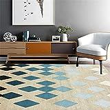 Xiaosua Teppich antirutschmatte Blue. Salon Teppich blau prismatische einfache weiche Teppich Anti-Slip wohnzimmerteppich 80x160cm Teppich für Wohnzimmer 2ft 7.5''X5ft 3''