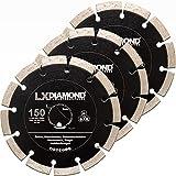 LXDIAMOND 3x Diamant-Trennscheibe 150mm PROFI Diamantscheibe für Beton Mauerwerk Universal Trennscheibe passend für Bepo FFS 150 151 Fensterfräse Montagefräse Fensterfugenschneider 150 mm