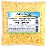 ActiveTimeLife® Bienenwachs Pastillen gelb 200 g   Zertifiziert   für Natur Kosmetik Kerzen Cremes Salben Seifen Wachstü