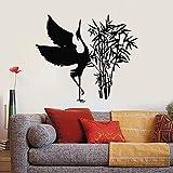 Schöne Storch Wandtattoo Oriental Bambus Vogel Vinyl Fensteraufkleber Wohnzimmer Kinderzimmer Wohnkultur Kreative Tapete A8 42×36CM