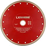 LXDIAMOND Diamant-Trennscheibe 230mm x 22,23mm ideal für den Dauereinsatz in 2-3cm Feinsteinzeug Terrassenplatten Feinsteinzeugfliesen Natursteinfliesen usw. Diamantscheibe 230 mm