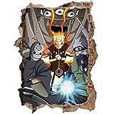 3D Wandaufkleber Naruto Sasuke Naruto Cartoon Anime Kinderzimmer Wasserdichter Glasaufkleber Wandtattoo-80 * 120CM-D_80*120CM