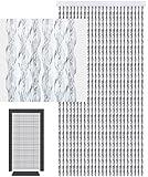 defacto®Türvorhang Fadenvorhang 100x220 cm CHRISTALL PVC Vorhange PVC Streifen Glitzer Glanz 100% Made in Italia