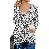 XUNN Damen Bluse Frühherbst Neues Rundh-Alsausschnitt Modedruck Langarm T-Shirt Iässige Oberteile