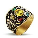 Thanos Ring für Männer, Thanos Infinity Gauntlet Ring, Infinity Stone Ring, Infinity War Soul Power Steinkristallring, Modeschmuck Geschenk(19.8)