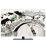 LIUDINGDING-zheyangwang TV-Abdeckung Neue Chinesen Staubdicht Fernsehgeräte Schützen LCD-Fernseher Anzeige (Color : Jiangnan, Size : 22inch)