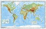 Weltkarte physisch - Wandkarte / Poster