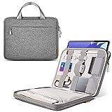 Inateck Laptoptasche Hülle kompatibel mit 12.9 Zoll iPad Pro, 13 Zoll MacBook Pro 2020M1-2016, 13 Zoll MacBook Air 2020M1-2018, 12.3 Zoll Surface Pro X/7/6/5/4/3, mit Zubehörtasche für Ladeg