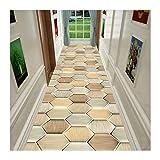 LIXIONG-Läufer teppiche Flur, Sanft Berühren rutschfest Flur Area Rug, Geometrisch Design Waschbar Tür Matten zum Schlafzimmer Küche, (Color : A, Size : 1mx7.5m)