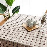 Quaste Beistelltisch Antifouling Karierte Tischdecke Serviette Couchtisch Home Küche Farbe Rechteckiger Tisch Nordic Garden 140x220cm 8-XingSe