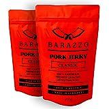 Barazzo Pork Jerky Classic   1 kg (2x500g Maxibeutel)   100% Premium Trockenfleisch Regional   Beef Jerky/Biltong