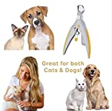 Pet Nagelknipser for Hunde Katzen Nagelschere Professional for Harte Nägel mit Einbau-LED-Licht Sicherheits-Schutz zu Hause pflegen Huangchuxin