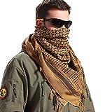 FREE SOLDIER Halstuch/Kopftuch Shemagh,100% Baumwolle Pali-Tuch Schals Unisex,Braun,110 * 110