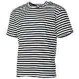 MFH Russisches Marine T-Shirt halbarm (Blau-Weiß) (S)