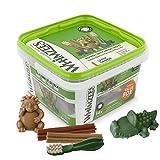 WHIMZEES Gemischte Vielfaltsbox, natürliche, getreidefreie Zahnpflegesnacks, Kaustangen für große Hunde, 14 Stück