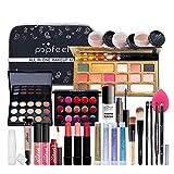 BrilliantDay 27 Stück Mehrzweck Make-up-Set All-in-One Make-up-Geschenkset Kosmetik-Palette Starter Kit Lipgloss Blush Brush Lidschatten-Palette Hochpigmentierte Für Frauen Mädchen