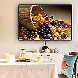 Wandkunst Obst Gemüse Poster und Drucke Leinwand Malerei Skandinavische Kunst Wandbild Für Wohnzimmer Küche Dekor-60x80cm Kein Rahmen