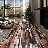 Benutzt für Küche, Bad, Flur und Wohnzimmer,PVC-Laminat-Dielen 4,46 m² 3 mm Selbstklebend Mehrfarbig