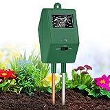 XDDIAS Bodentester,3 in 1 Bodenmessgerät Boden Feuchtigkeit für Pflanzen,pH Lichtstärke Meter Tester für Pflanzenerde,Garten,Bauernhof