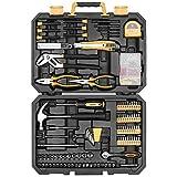 DEKO Werkzeug Set 196-teiliges Allgemeines Haushalts-Hand-Werkzeugset Mit Hammer,Schraubendreher,Steckschlüsselsatz und Kunststoff Werkzeugkoffer