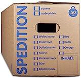 KK Verpackungen® Umzugskartons mit 50KG Tragkraft | 15 Stück, 2-wellige Mehrweg-Umzugskisten in extrastabiler Sp