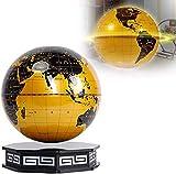 LULUTING 8' Magnetic Levitation Globe 360 Grad drehende Weltkarte mit LED-Licht kreativen Schreibtisch-Dekoration-Kind-Geschenk (golden)