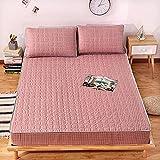 XGguo Matratzen-Bett-Schoner mit Spannumrandung | Doppelseitiges Baumwollbettlaken Einteilige Verdickung-1_150 * 200cm