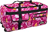 normani Leichte XXL Reisetasche Rollenreisetasche Trolley Sporttasche mit Rollen Farbe Crazy Child Größe 80 Liter