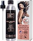 Selbstbräuner Sunless Tanning Oil, Bio-Spray Tan mit Hyaluronsäure und Booklet, kein gefälschter Tan-Geruch und keine Streifen für perfektes goldenes Leuchten
