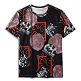 SSBZYES Herren T-Shirt Sommer Herren Kurzarm T-Shirt Herren Rundhals T-Shirt Herren Fashion Print T-Shirt Spaceman M