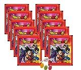 Panini Dragon Ball Super Sticker - Sammelsticker 10 x Stickertüten je 5 Sticker zusätzlich erhalten Sie 1 x Fruchtmix Sticker-und-co Bonbon