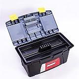 Kleine Werkzeugkiste Werkzeugkasten Tragbare Hardware Kunststoff Werkzeugkasten mit Griff Multifunktions Haus Lagerung Elektriker Auto Reparaturkoffer Organizer 14 Zoll Teileaufbewahrungsbox
