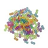 Loom S-Clips, Regenbogenfarben, Nachfüllpack, für Loom-Bänder, Schmuckherstellung, Werkzeug, 125 Stück, Heim-Nähzubehör
