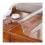 AWSAD Tischfolie Transparent PVC Film Tischdecke Tischfolie Schutzfolie Tischschutz Glasklar Pflegeleicht und Abwischbar für Esstische und Schreibtische (Color : 3.0mm, Size : 70X140cm)