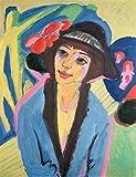 Digitaldruck/Poster Ernst Ludwig Kirchner - Portrait of Gerda - 50 x 65cm - Premiumqualität - Made in Germany