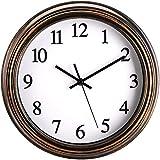 Kingrol 30,5 cm Vintage-Wanduhr, geräuschlos, tickt nicht, hochwertige Quarzuhr, einfach zu lesen, rustikale dekorative Uhr für Zuhause, Büro, Schule
