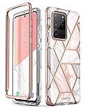 i-Blason Handyhülle für Samsung Galaxy S20 Ultra Hülle Glitzer Case Bumper Schutzhülle Glänzend Cover [Cosmo] OHNE Displayschutz 6.9 Zoll 2020 Ausgabe (Marmor) Galaxy-S20Ultra-C