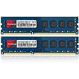 Kuesuny 16GB KIT (2X8GB) DDR3 1600MHz Udimm Ram PC3-12800 PC3-12800U 1.5V CL11 240 Pin 2RX8 Dual Rank Non-ECC Unbuffered Desktop Computer Memory Ram Module Upgrade