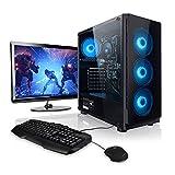 Megaport Komplett PC Set AMD Ryzen 3 3200GE 4X 3.30GHz (Turbo: 3.80 GHz) • 24' Monitor • Tastatur • Maus • 8GB DDR4 2400 • 240GB SSD • Vega 8 • Windows 10