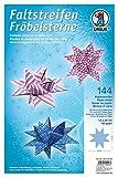 Ursus 16120000 Faltstreifen Fröbelsterne, 144 Streifen, 1,5 x 60 cm, 120 g/qm