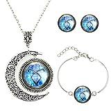 L-Unique jewelry Mond Anhänger Shadowhunters Angelic Power Rune Halskette Shadowhunters Schmuck Set Fashion Halskette Mond Geschenk