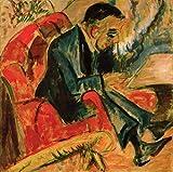Art-Galerie Digitaldruck/Poster Ernst Ludwig Kirchner - Sitzender Mann auf Parkbank - 51 x 50cm - Premiumqualität - Made in Germany
