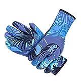 3 mm Neopren-Taucherhandschuhe, rutschfest, warm, geeignet für Wassersport-Handschuhe, verschiedene Größen S blau