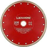 LXDIAMOND Diamant-Trennscheibe 200mm x 25,4mm ideal für den Dauereinsatz in 2-3cm Feinsteinzeug Terrassenplatten Feinsteinzeugfliesen Natursteinfliesen usw. Diamantscheibe 200 mm