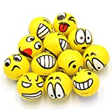 ZGBB 12 Stück Smiley-Gesicht, Anti-Stress-Ball, Autismus, Stimmungsspielzeug, Quetschspielzeug, zufällige Farbauswahl, 1 Stück