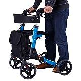 LTZ Rollatoren Gehwagen, Walker for Seniors 4 Wheels Stand Up Mobilitätshilfe Klappbarer Walker mit Sitz Und Rädern (Color : A)